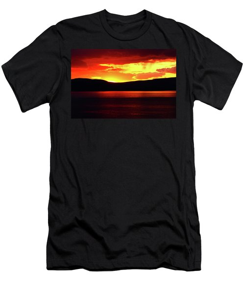 Sky Of Fire Men's T-Shirt (Athletic Fit)