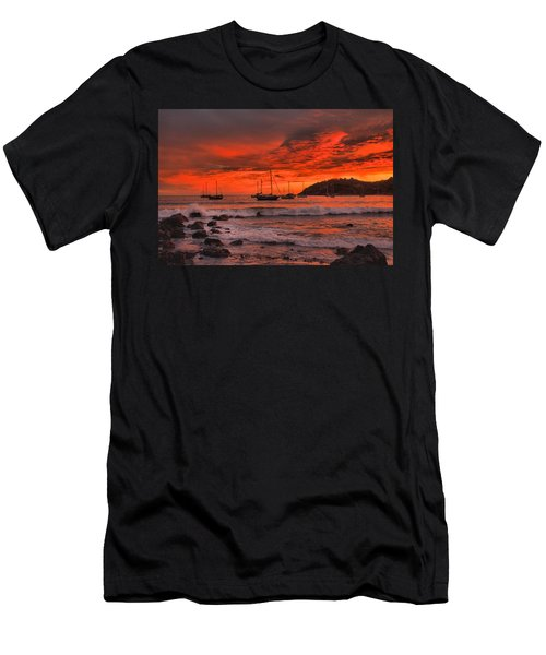 Men's T-Shirt (Slim Fit) featuring the photograph Sky On Fire by Jim Walls PhotoArtist