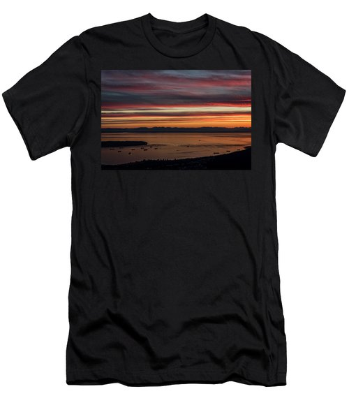 Sky On Fire Men's T-Shirt (Athletic Fit)
