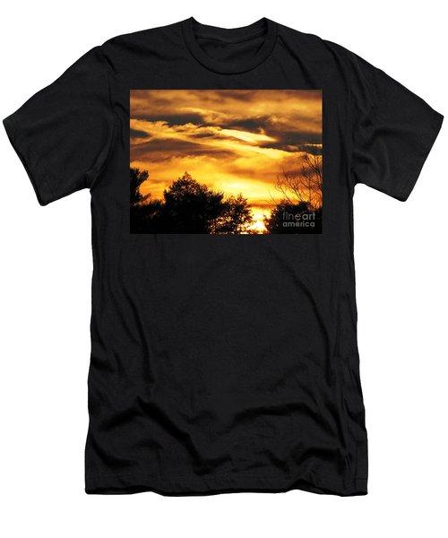 Sky Study 7 3/11/16 Men's T-Shirt (Slim Fit) by Melissa Stoudt