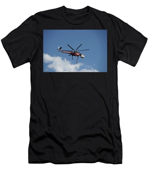 Skycrane Works The Red Canyon Fire Men's T-Shirt (Athletic Fit)