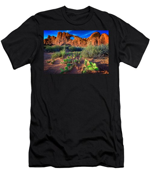 Skyline Arch In Late Day Sun Men's T-Shirt (Athletic Fit)