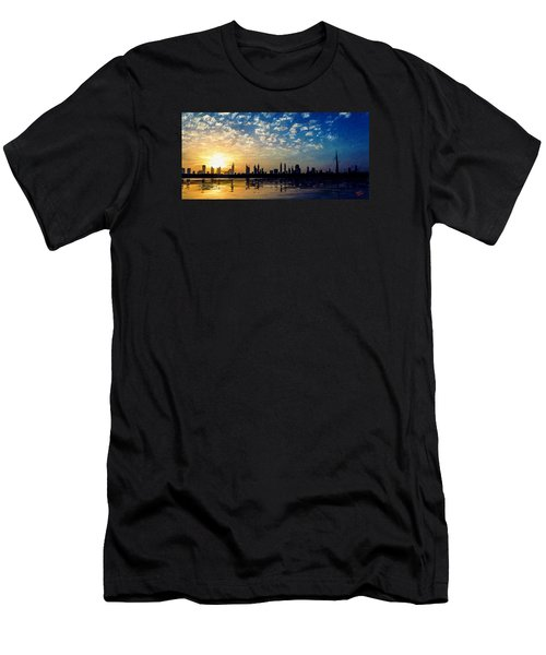 Men's T-Shirt (Slim Fit) featuring the painting Skyline by James Shepherd