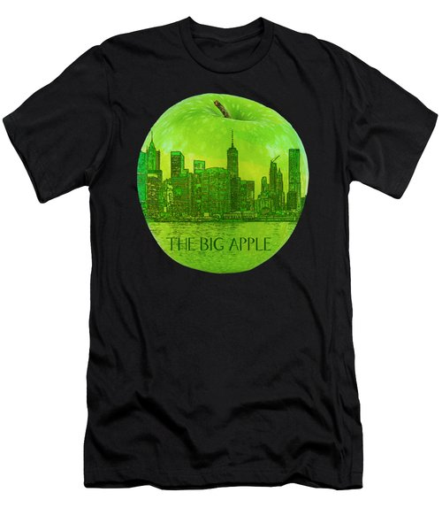 Skyline Of The Big Apple, New York City, United States Men's T-Shirt (Athletic Fit)