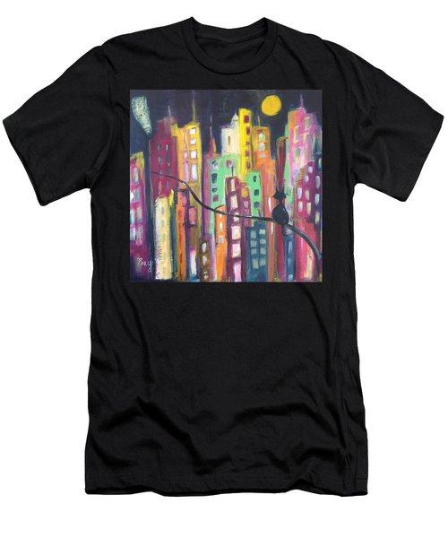 Skyscrapers Men's T-Shirt (Athletic Fit)