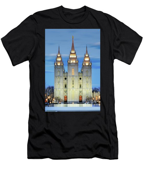 Slc Temple Blue Men's T-Shirt (Athletic Fit)
