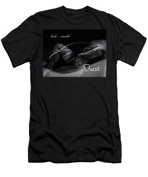 Sleek, Smooth, Fast Men's T-Shirt (Athletic Fit)
