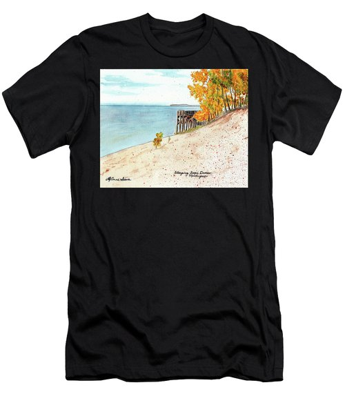 Sleeping Bear Dunes, Sand Dunes, Dune Paintings, Sandy Beaches, Lake Michigan Shoreline Men's T-Shirt (Athletic Fit)