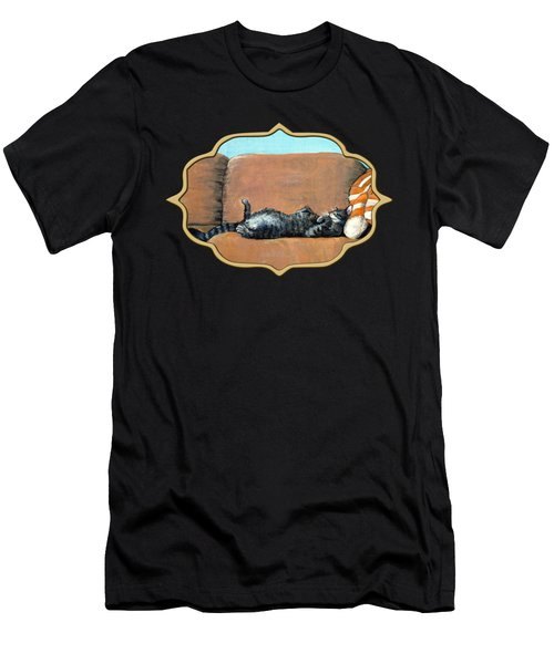 Sleeping Cat Men's T-Shirt (Athletic Fit)