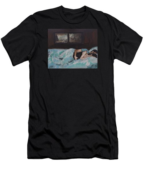 Sleeping In Men's T-Shirt (Athletic Fit)