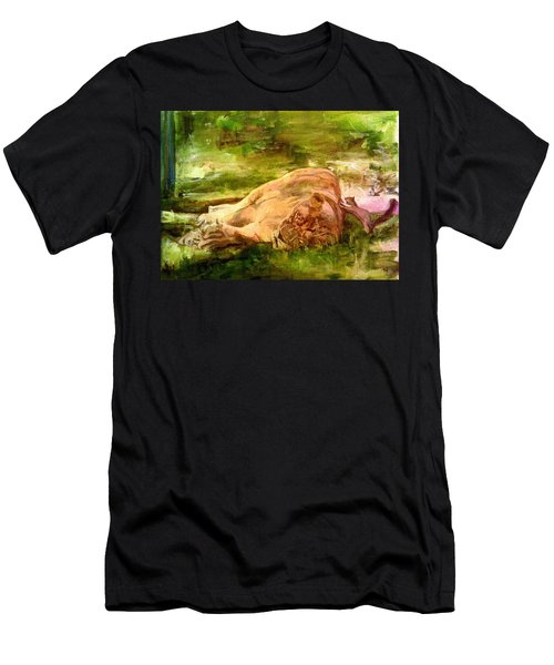 Sleeping Lionness Pushy Squirrel Men's T-Shirt (Athletic Fit)