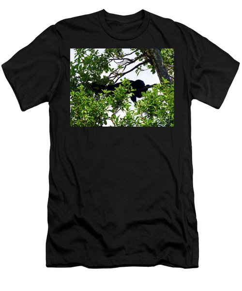 Men's T-Shirt (Athletic Fit) featuring the photograph Sleeping Monkey by Francesca Mackenney
