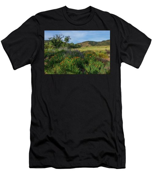 Sleeping Poppies, Mission Trails Men's T-Shirt (Athletic Fit)