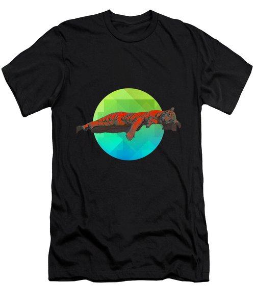 Sleeping Tiger Men's T-Shirt (Athletic Fit)