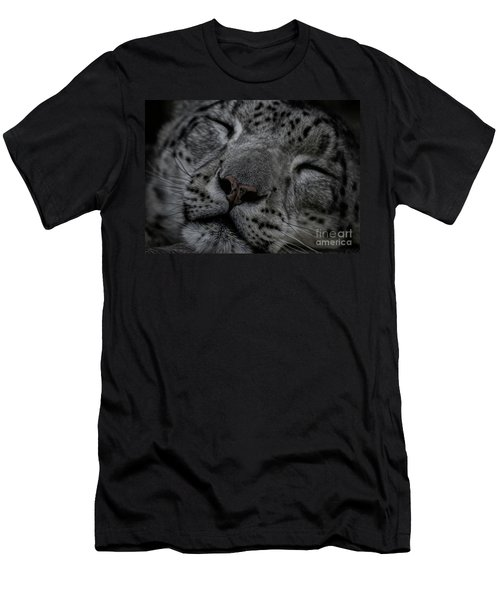 Sleepy Cat Men's T-Shirt (Athletic Fit)