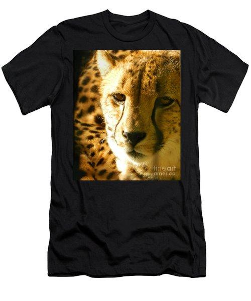 Sleepy Cheetah Cub Men's T-Shirt (Slim Fit) by Emmy Marie Vickers