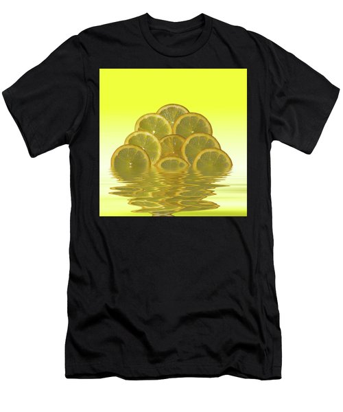 Slices Lemon Citrus Fruit Men's T-Shirt (Athletic Fit)