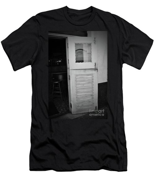 Men's T-Shirt (Athletic Fit) featuring the photograph Sloppy Door by Jost Houk