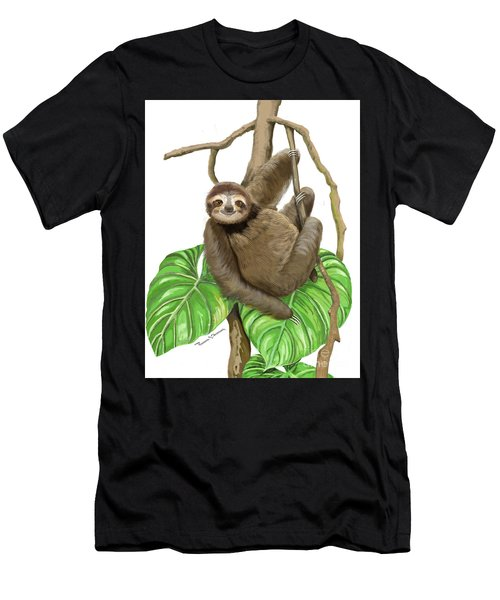 Hanging Three Toe Sloth  Men's T-Shirt (Athletic Fit)