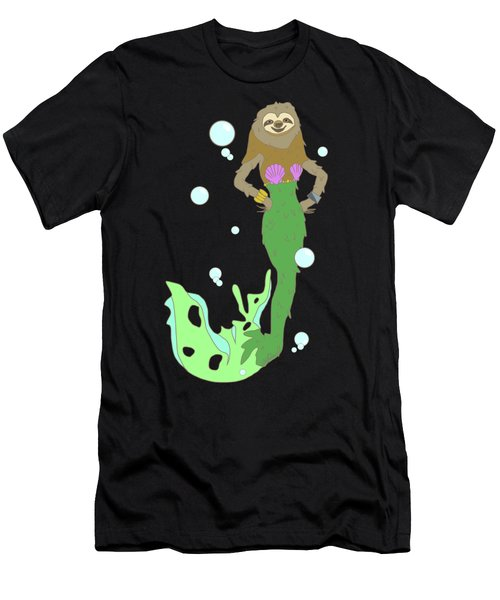 Sloth Mermaid Men's T-Shirt (Athletic Fit)