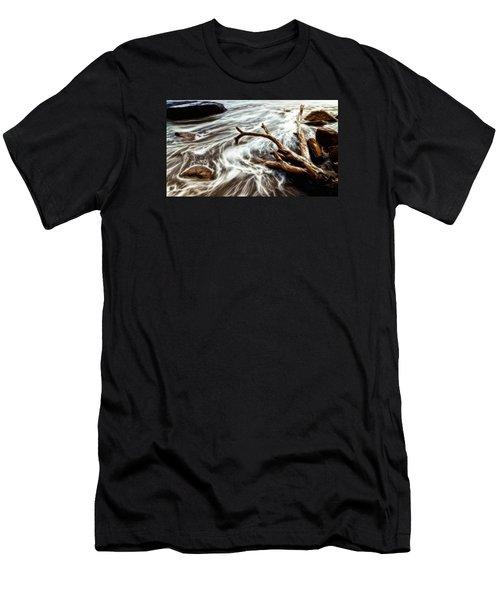 Slow Motion Sea Men's T-Shirt (Slim Fit) by Cameron Wood