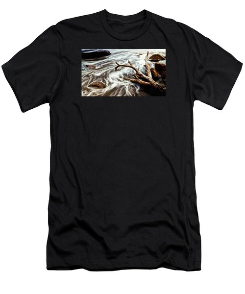 Slow Motion Sea Men's T-Shirt (Athletic Fit)