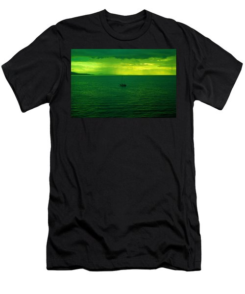 Small Boat At Dusk Men's T-Shirt (Athletic Fit)