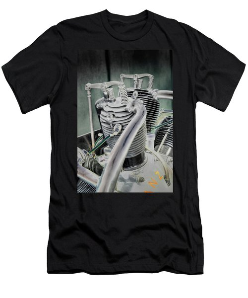 Small Radial Engine Men's T-Shirt (Athletic Fit)