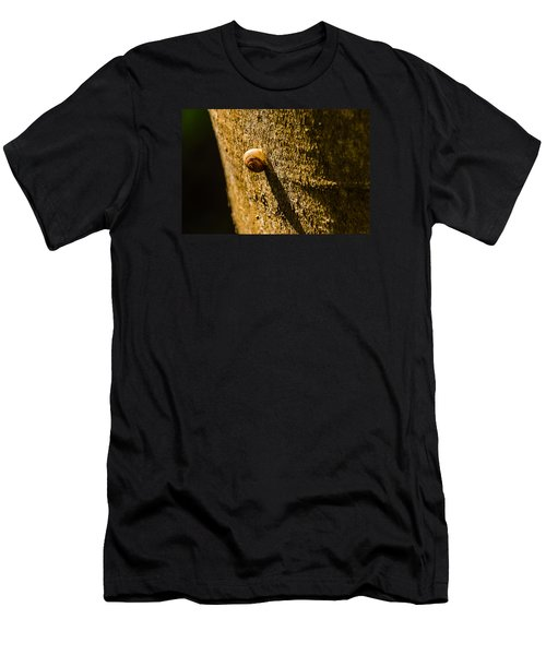 Small Snail On The Tree Men's T-Shirt (Athletic Fit)
