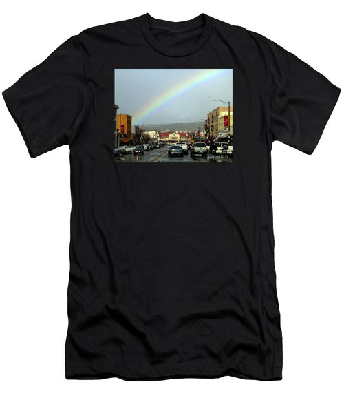 Men's T-Shirt (Athletic Fit) featuring the photograph Small Town Living by Beauty For God