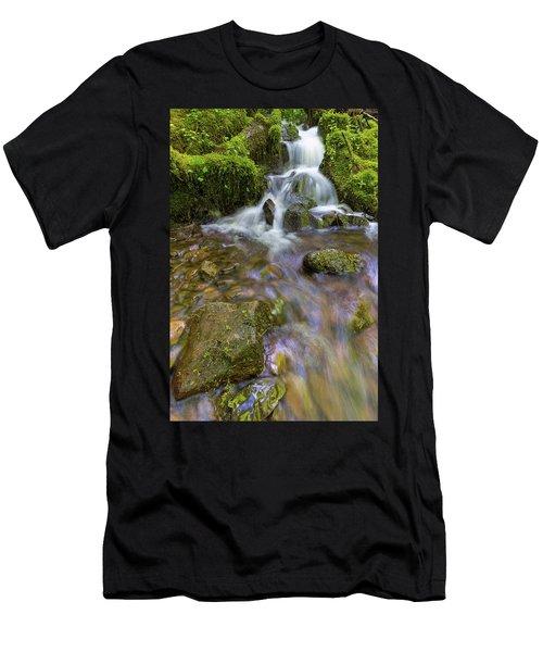 Small Waterfalls Along Wahkeena Creek Men's T-Shirt (Athletic Fit)