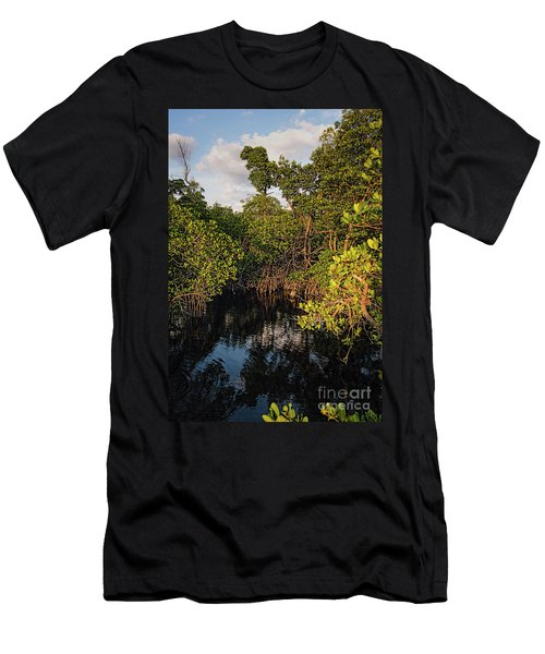 Small Waterway In Vitolo Preserve, Hutchinson Isl  -29151 Men's T-Shirt (Athletic Fit)