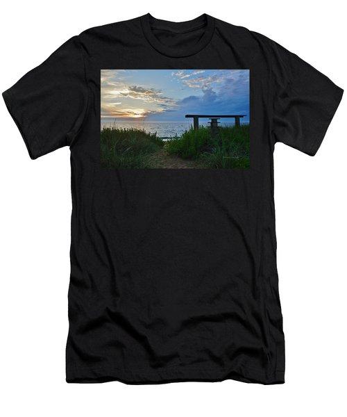 Small World Sunrise   Men's T-Shirt (Athletic Fit)