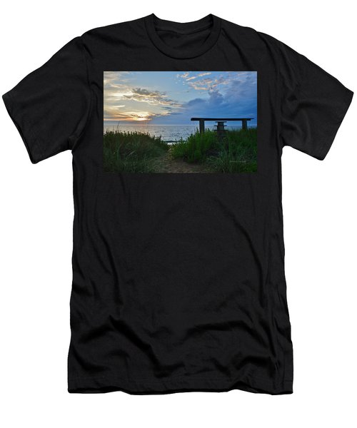 Small World Sunrise   Men's T-Shirt (Athletic Fit)