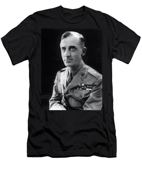 Smedley Butler - U. S. Marines General - 2 Time Medal Of Honor Recipient Men's T-Shirt (Athletic Fit)