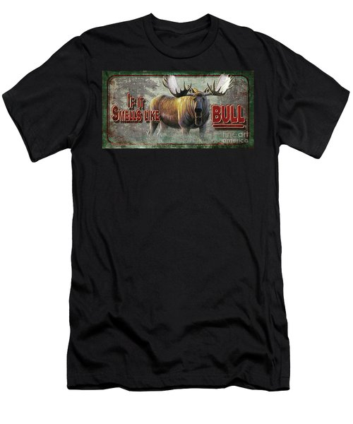 Smells Like Bull Sign Men's T-Shirt (Athletic Fit)