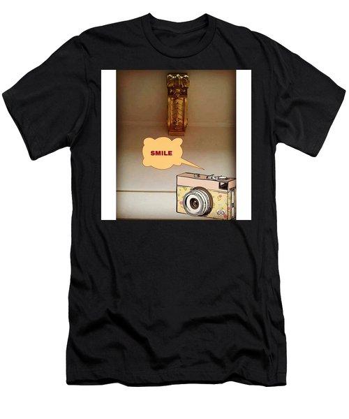 Smile, Send  Goodvibes  Men's T-Shirt (Athletic Fit)