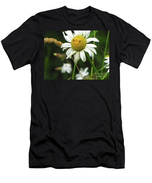 Smiley Face Ox-nose Daisy Men's T-Shirt (Slim Fit) by Sean Griffin