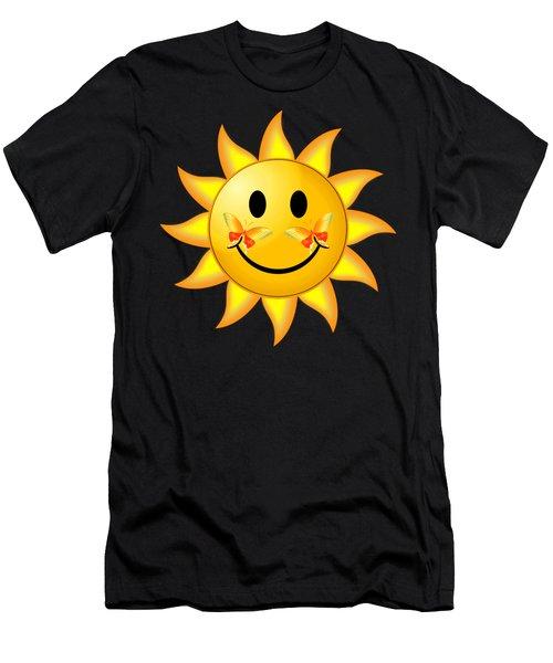 Smiley Face Sun Men's T-Shirt (Athletic Fit)