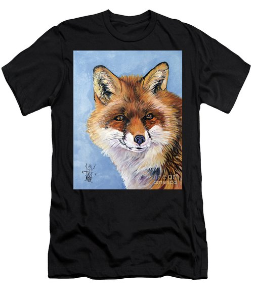 Smiling Fox Men's T-Shirt (Athletic Fit)