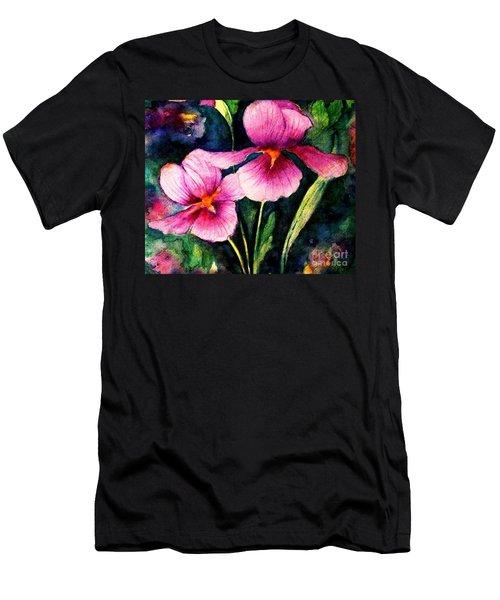 Smiling Iris Faces  Men's T-Shirt (Slim Fit) by Hazel Holland