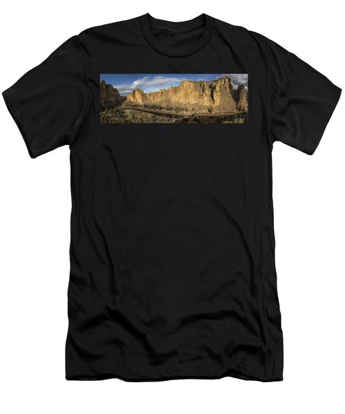 Smith Rock And Crooked River Panorama Men's T-Shirt (Athletic Fit)