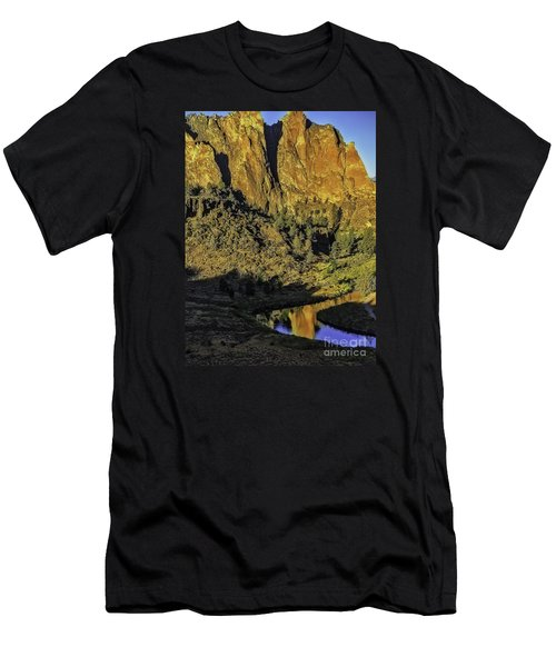 Smith Rock Reflections-1 Men's T-Shirt (Athletic Fit)