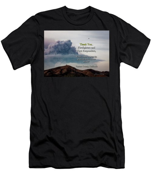 Smoke Cloud Over Two Trees Men's T-Shirt (Athletic Fit)