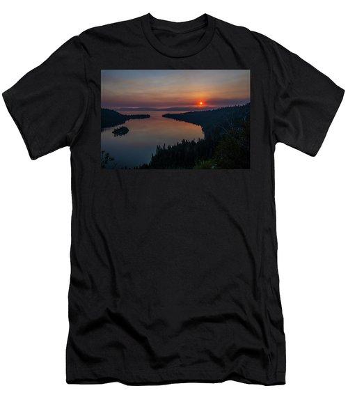 Smoke-diffused Sun At Emerald Bay Men's T-Shirt (Athletic Fit)