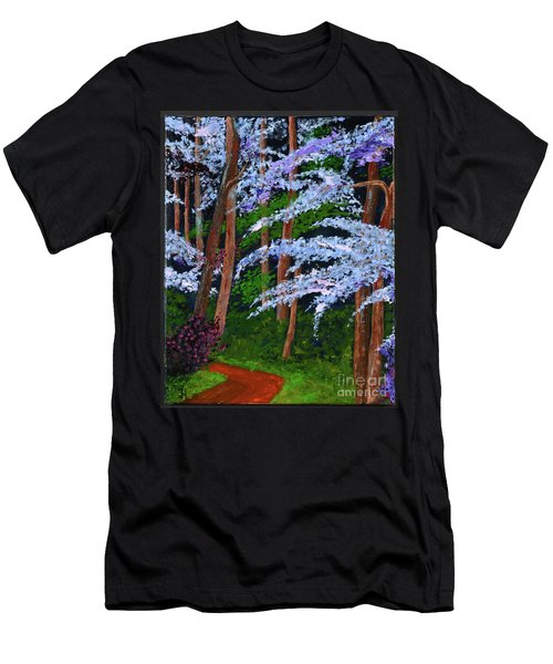 Smokey Mtn. Trail Men's T-Shirt (Athletic Fit)