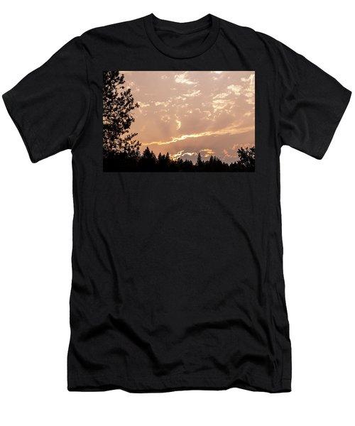 Smokey Skies Sunset Men's T-Shirt (Slim Fit) by Melanie Lankford Photography