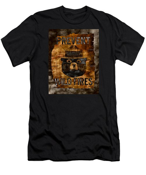 Smokey The Bear Only You Can Prevent Wild Fires Men's T-Shirt (Slim Fit)
