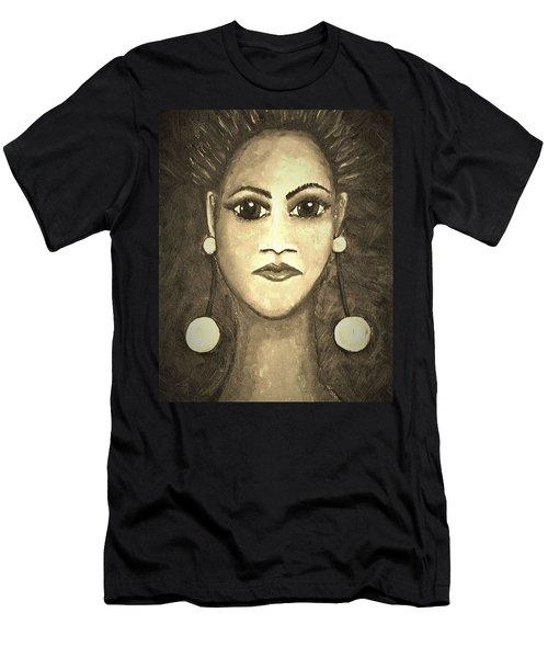 Smoking Woman 1 Men's T-Shirt (Athletic Fit)