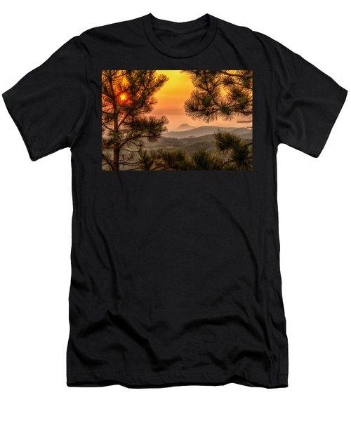 Smoky Black Hills Sunrise Men's T-Shirt (Athletic Fit)